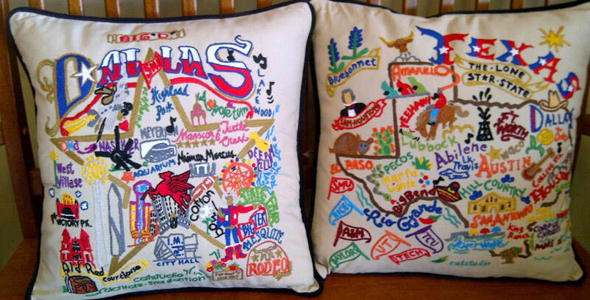 T. Hee Greetings throw pillows