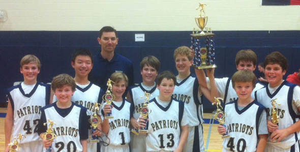 Class Seven boys basketball team at Providence win the Providence Patriot Basketball tournament