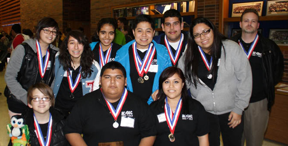 "Thomas Jefferson High School's super quiz team tied for second in the ""medium school"" category during the Region 10 Academic Decathlon."