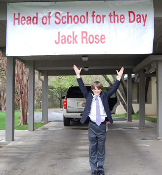 "Jack Rose ""Head of School for the Day"""