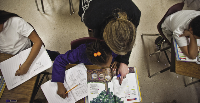 Students work on an assignment at Preston Hollow Elementary: Kim Leeson
