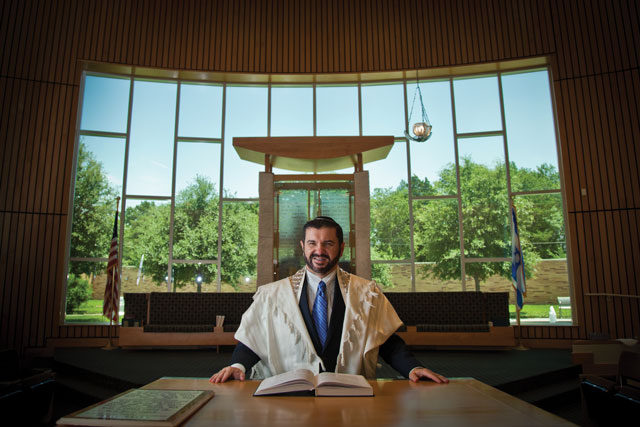 Cantor Itzhak Zhrebker of Congregation Shearith Israel is known for his operatic tenor voice.