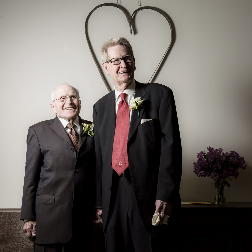 George Harris and Jack Evans on their wedding day. (Photo by Danny Fulgencio)
