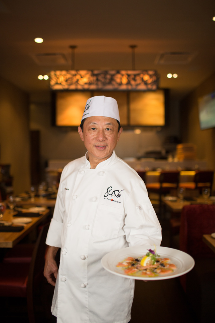 Roger Man has more than 20 years of experience in the industry and recently departed Nobu to lead The Mercury's new sushi program. Photo by Rasy Ran