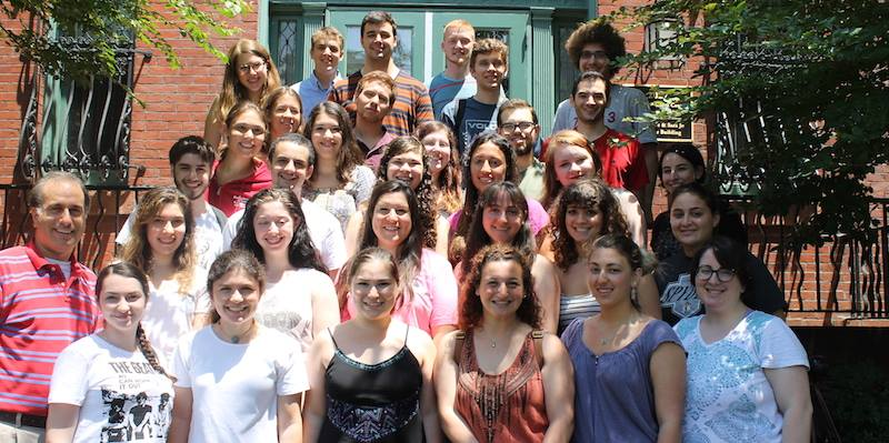 2014 Machon Kaplan interns. Preston Hollow native Megan Sims stands in the third row, second from the right. Photo via Facebook