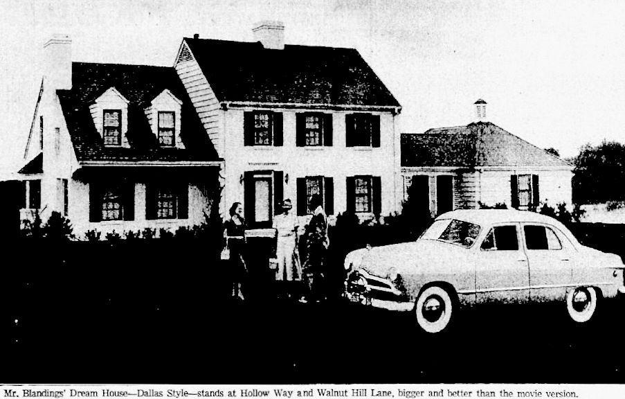 Photograph of 5423 Walnut Hill Lane by The Dallas Morning News, via Flashback: Dallas