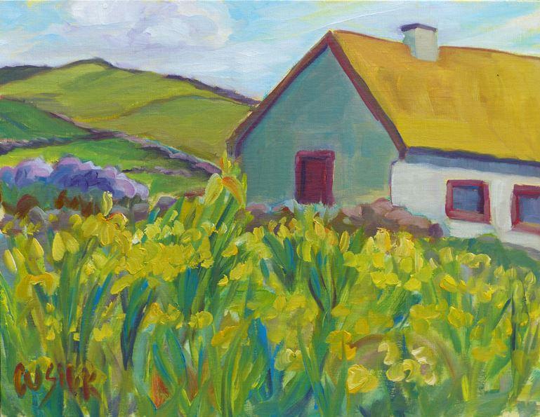 """Wild Yellow Iris"" by Lori Cusick, via nhg.com"