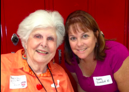 """Audrey Essenfeld Pincu posted the following photo to Facebook with the caption: """"I'm so sorry to hear this. I feel fortunate I got to see her a few years ago at the big Hillcrest anniversary. We talked and I took my picture with her. She was a wonderful art and yearbook teacher. I have so many fond memories of her."""""""