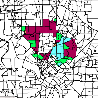 District 2 election results map