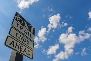 """""""Trail Ends"""" sign on Northaven Trail (Photo by Danny Fulgencio)"""