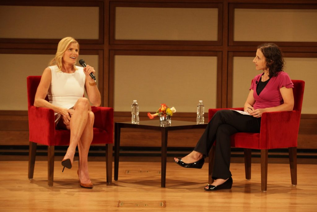 Mariel Hemingway interviewed by Amy Jones at the Bush Institute on Oct. 13, 2016. (Photo by Rob Wythe, Gittings)