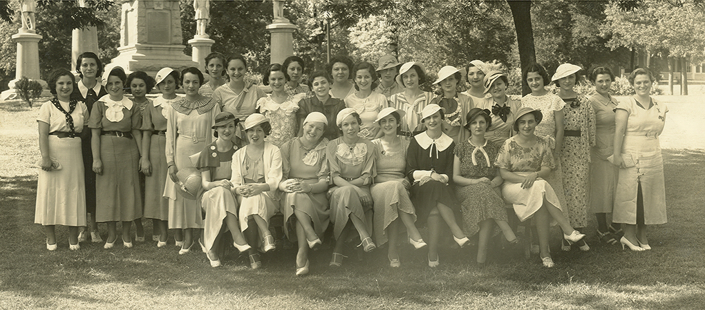 Members of Hadassah Buds at City Park in 1934. (Photo courtesy of The Dallas Jewish Historical Society)