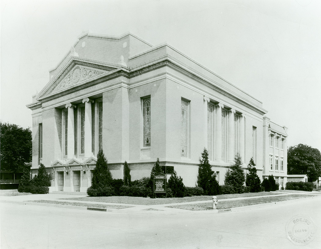 Temple Emanu-El's South Boulevard location in 1917. (Photo courtesy of The Dallas Jewish Historical Society)