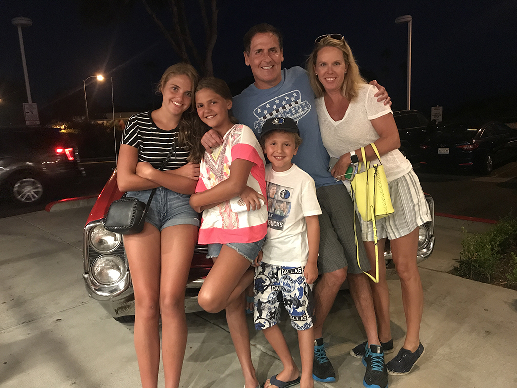 Mark Cuban with his wife, Tiffany, and children, Alexis, Alyssa and Jake. (Photo courtesy of Mark Cuban)