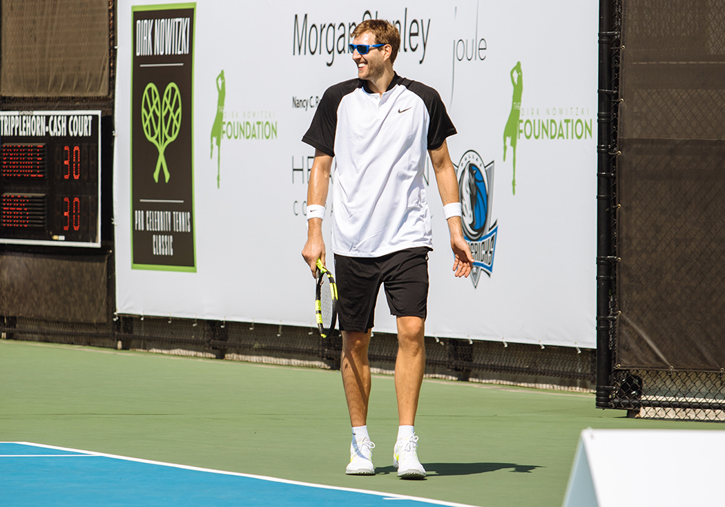 This year, the Dirk Nowitzki Pro Celebrity Tennis Classic raised money for families who evacuated the Gulf Coast following Hurricane Harvey. (Photo by Kathy Tran)