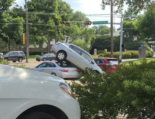 This car wreck in Preston Hollow raised a lot of neighbors' eyebrows