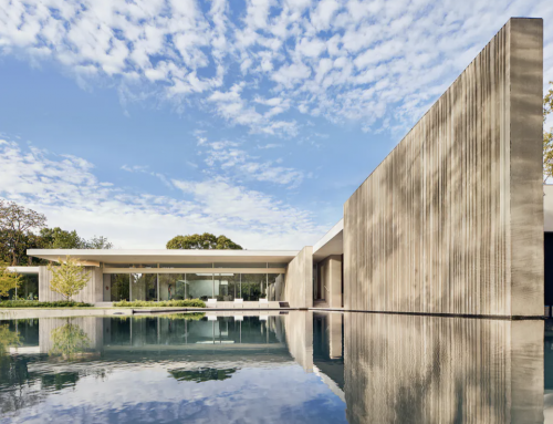 This new Brutalist-inspired home stands out in Preston Hollow