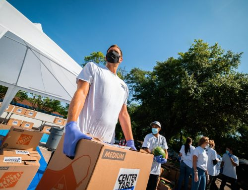 Mark Cuban Heroes Basketball Center hosts drive-up event providing 350 food boxes for families