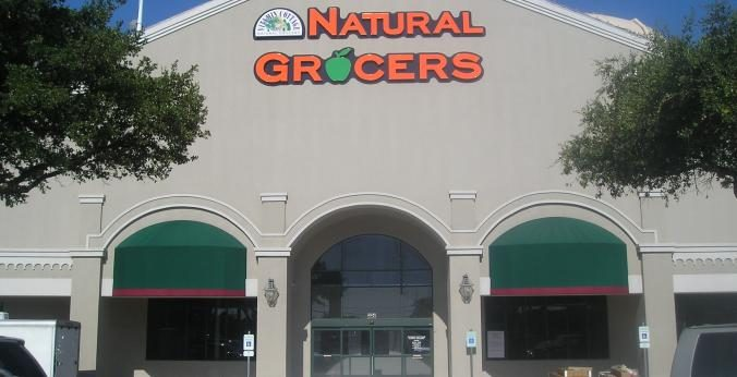 The Preston and Forest Natural Grocers storefront