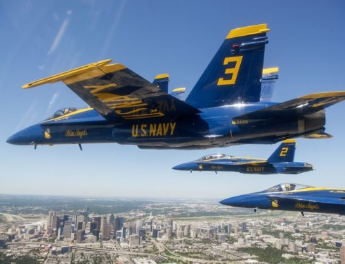 Watch: A Blue Angel makes its way to the Frontiers of Flight Museum