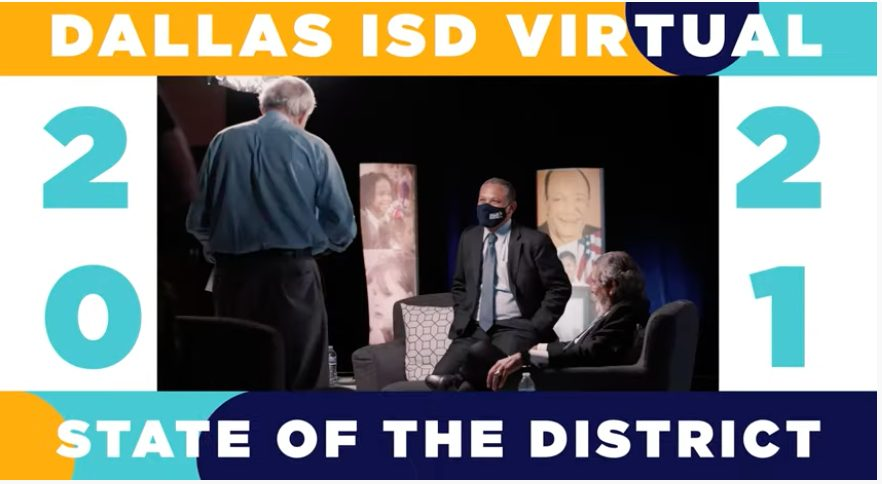 Screenshot of video by DISD Virtual Sate of the District on YouTube